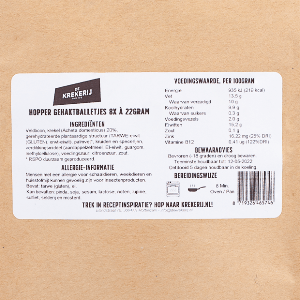 packshot label hoppe gehaktballetjes